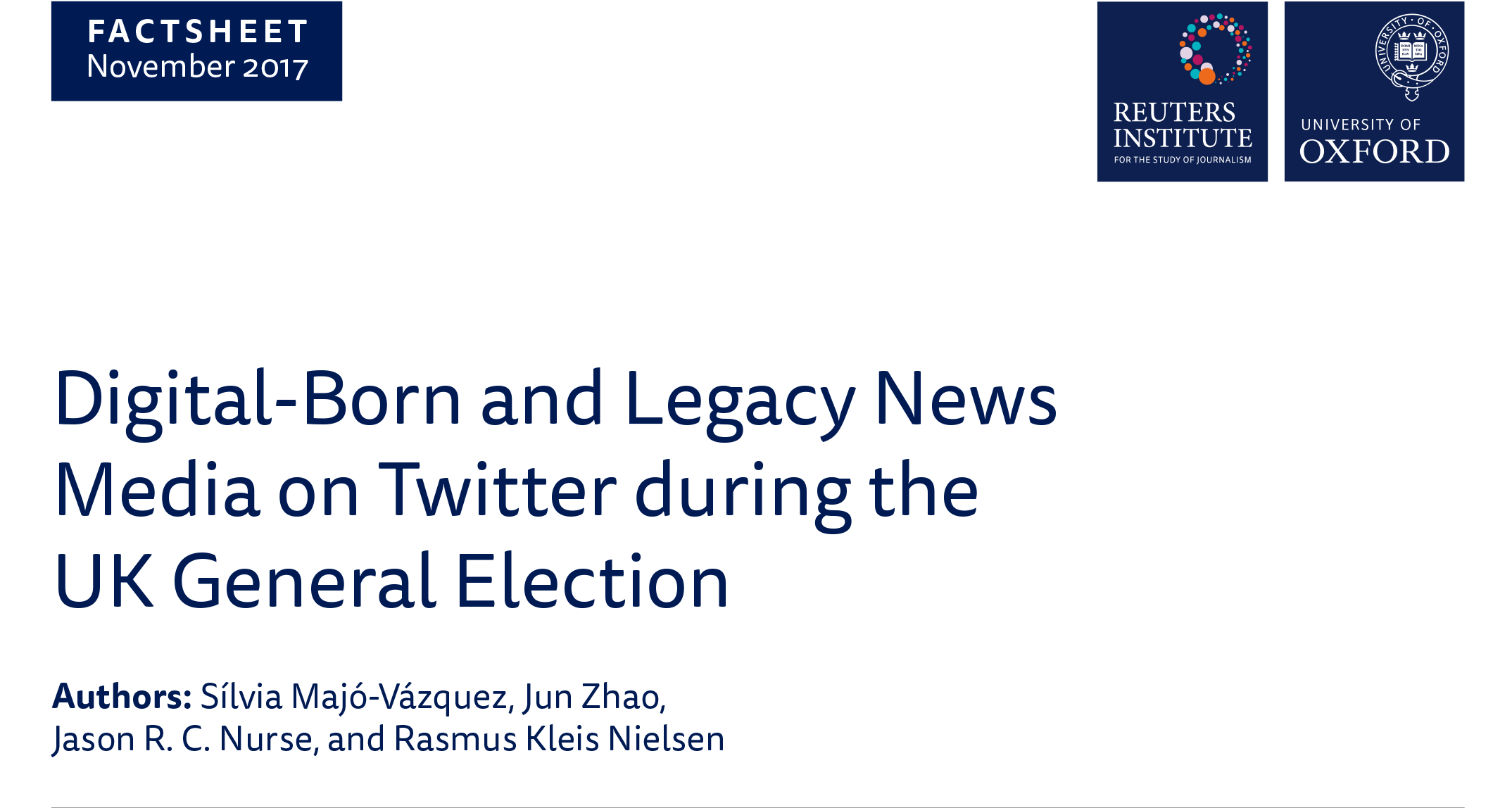 Digital-Born and Legacy News Media on Twitter during the UK General  Election   Reuters Institute for the Study of Journalism