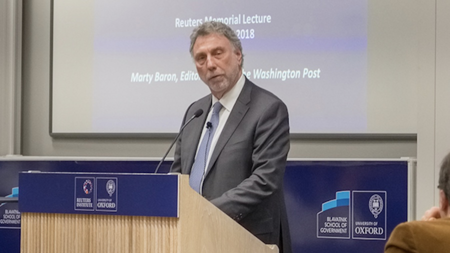 Marty Baron delivers the annual Reuters Institute Memorial Lecture