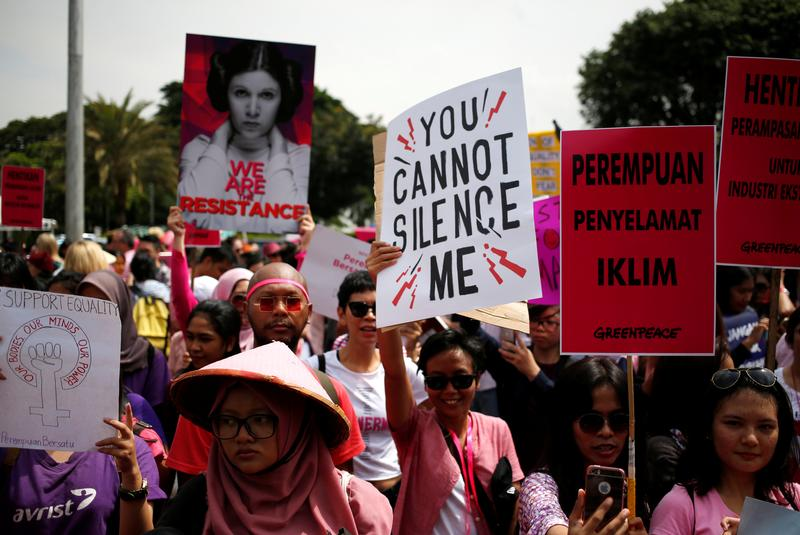 International Women's Day March in Indonesia