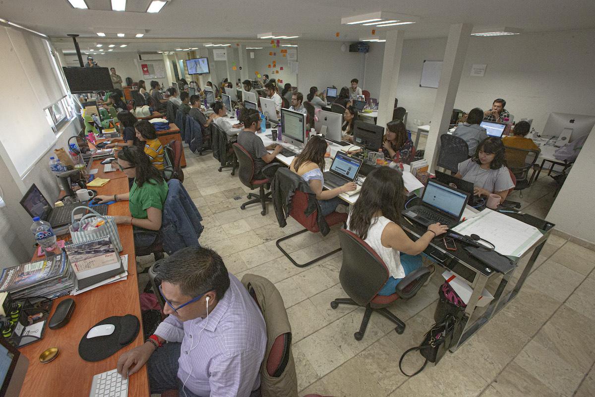 Animal Político's newsroom.