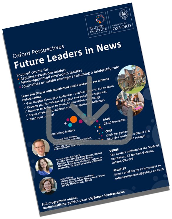Future Leaders in News flyer