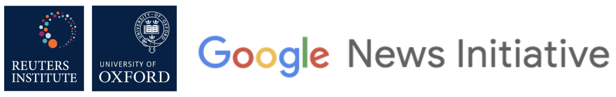 Reuters Institute and Google News Initiative logos