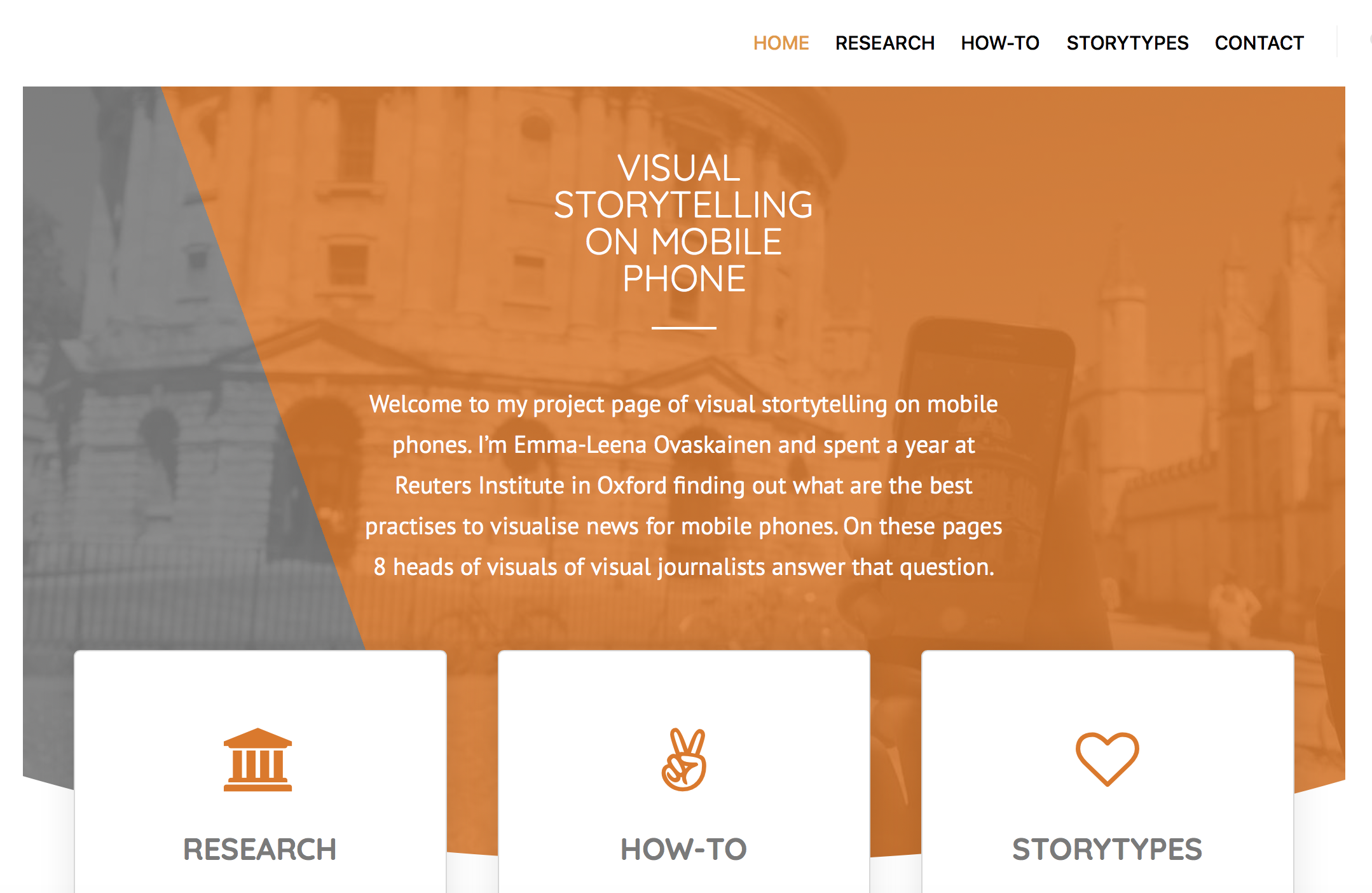 Visual storytelling for mobile phones