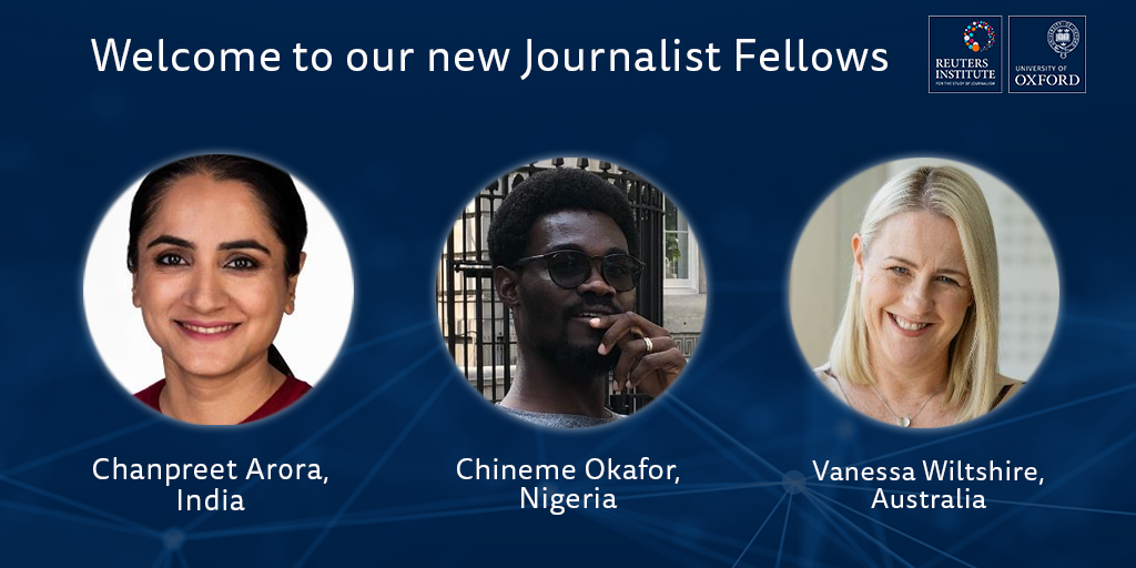 Three new Journalist Fellows arrive at the Reuters Institute | Reuters Institute for the Study of Journalism