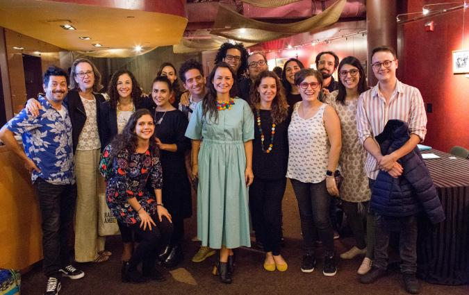 Radio Ambulante's team after a live show in Washington DC. / ELSA ATTAR