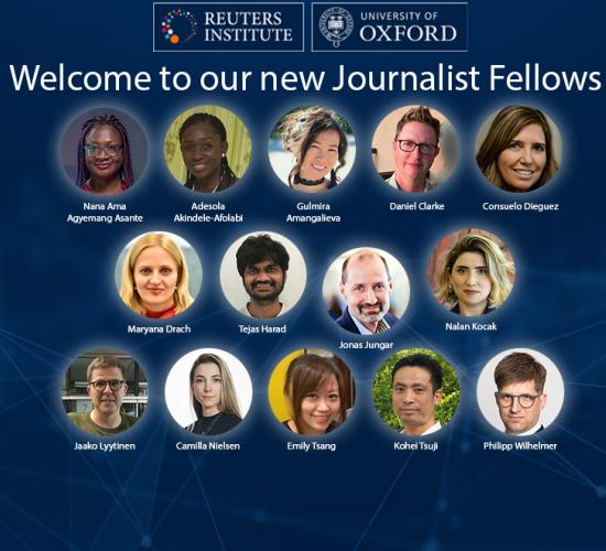 These are the Reuters Institute's Journalist Fellows for